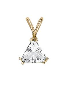 Pendants - 14K White Gold - Solitaires - Style F421